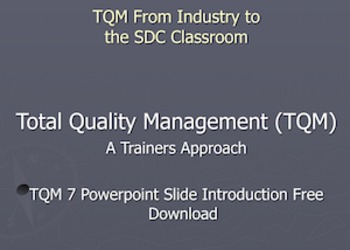 TQM 7 Powerpoint Slide Introduction Free Download