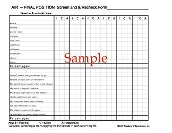/r/ Artic-U-Checks data forms for baseline & progress monitoring