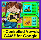 r-Controlled Vowels GAME for GOOGLE SLIDES:  Self-Checking WITH SOUND PDF