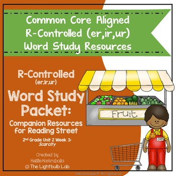 r-Controlled Word Study Packet: (Scarcity) Reading Street Resource Packet