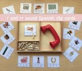 r and rr Spanish Clip Cards (Montessori)
