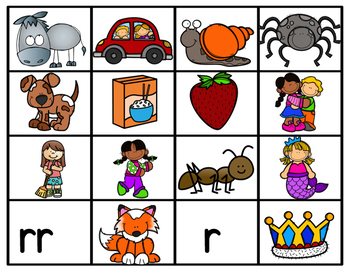 r and rr spanish word sort