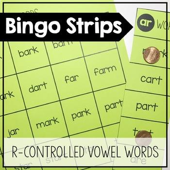 r-controlled Vowel Bingo Strips