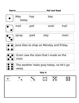 r controlled vowel (ER, IR, UR) phonics partner reading game