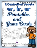 R Controlled Vowel Phonics Activities for er, ir, and ur