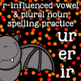 r-controlled/ r-influenced vowels - ur, er, ir - Halloween - Spelling/Word Work