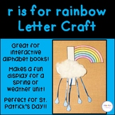 r is for rainbow Letter Craft