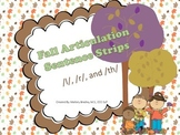 r, l, and th-Fall Articulation/Language Sentences/Activities for Speech Therapy