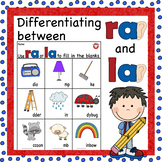 Differentiating ra or la sounds worksheet