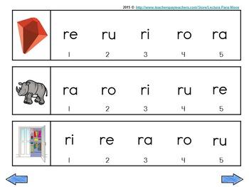 ra re ri ro ru  Silabas iniciales  WHITE Background