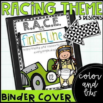 racing theme communication binder covers {freebie}