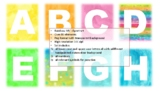 rainbow abc watercolour clip art letters numbers and punctuation