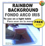 Rainbow background for light table activities
