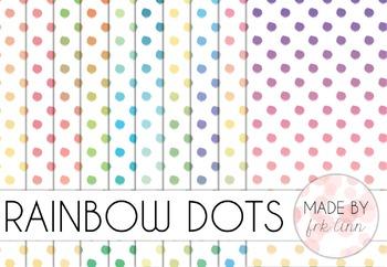rainbow dots - digital paper