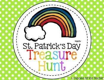 St. Patrick's Day Treasure Hunt {Freebie}