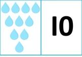 raindrop 1-10 counting mat