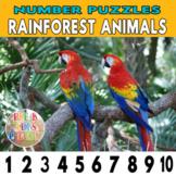 Rainforest Animal Number Strip Puzzles | Number Order Sequ