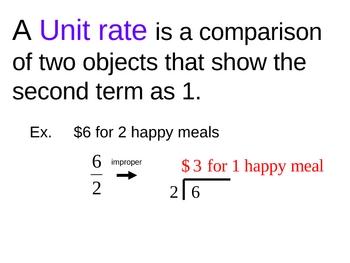 ratios & unit rates powerpoint