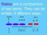 ratios & unit rates powerpoint