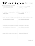 ratios worksheet - CA standard 1.2