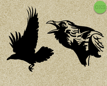 raven SVG cut files, DXF, vector EPS cutting file instant download for cricut