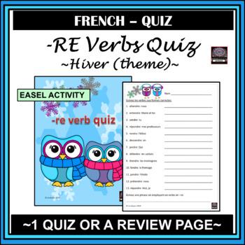 re verb quiz - Winter Theme