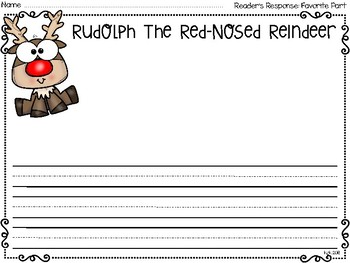 reader's response pages: rudolph, frosty, grinch and the night before christmas
