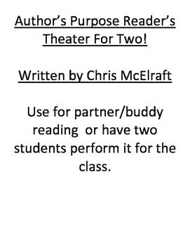 readers theater, author's purpose, script