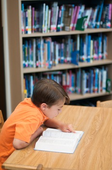 Stock Photo: Student Reading a Book in the Library #7 -Personal & Commercial Use