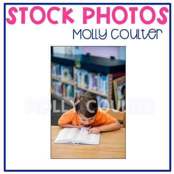 Stock Photo: Student Reading in the Library #8 -Personal &