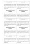 reading Response Notebook Component Summaries