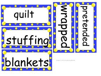 Grade 2 Vocabulary Words Unit 4 for Reading Street (2008)