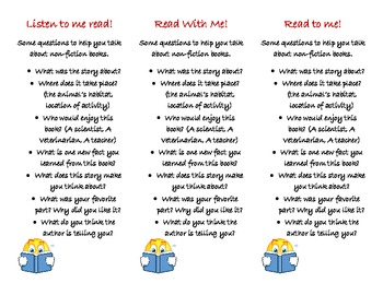 reading bookmarks - differentiated (non-fiction text)