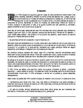 reading comprehension Spanish, el desván