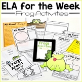 reading comprehension passages and questions - frogs