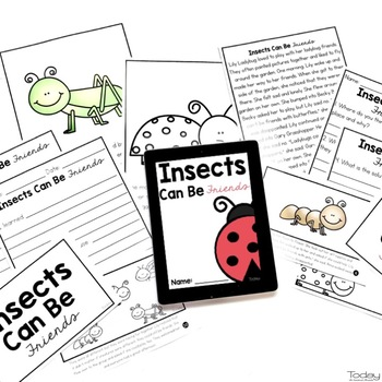 reading comprehension passages and questions - insects