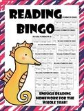 reading homework bingo