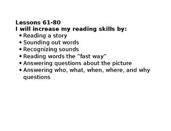 reading mastery kindergarten objectives