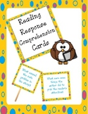 reading response reading comprehension prompt cards (for fiction and nonfiction)