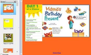 reading street  Mama's Birthday present