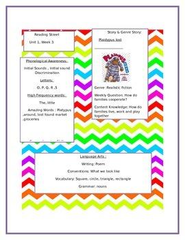 reading street organizational guide Kindergarten