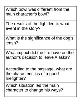 reading test vocab