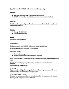 readworks.org passage + short response questions