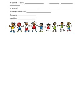 realidades 2 tema 4a Note Sheet - Cuando eramos niños