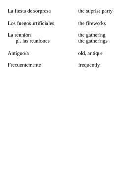 realidades II, 4B Vocabulary