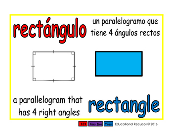 rectangle/rectangulo geom 1-way blue/rojo
