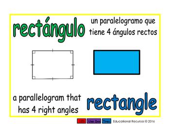 rectangle/rectangulo geom 1-way blue/verde