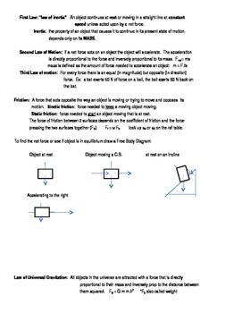 regents physics review sheets