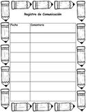 registro de comunicación