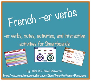 French -er verbs for Smartboard